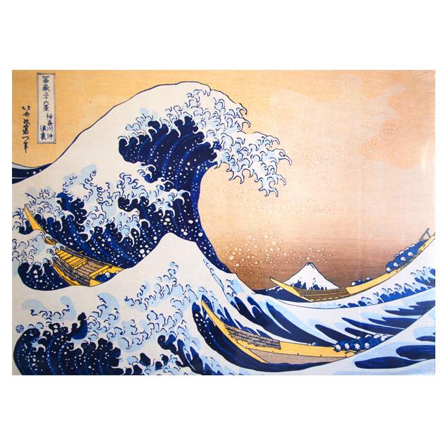 Affiche La Grande Vague de Kanagawa, HOKUSAI 50x70
