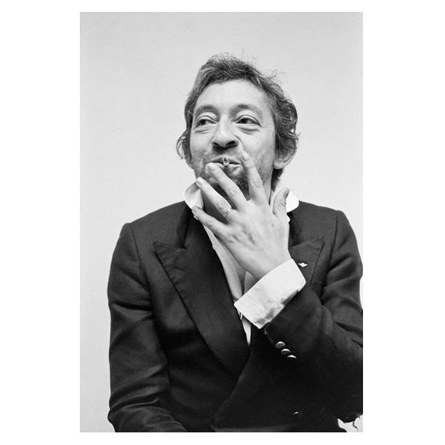 Affiche Serge Gainsbourg, G. LE QUERREC 50x70 cm