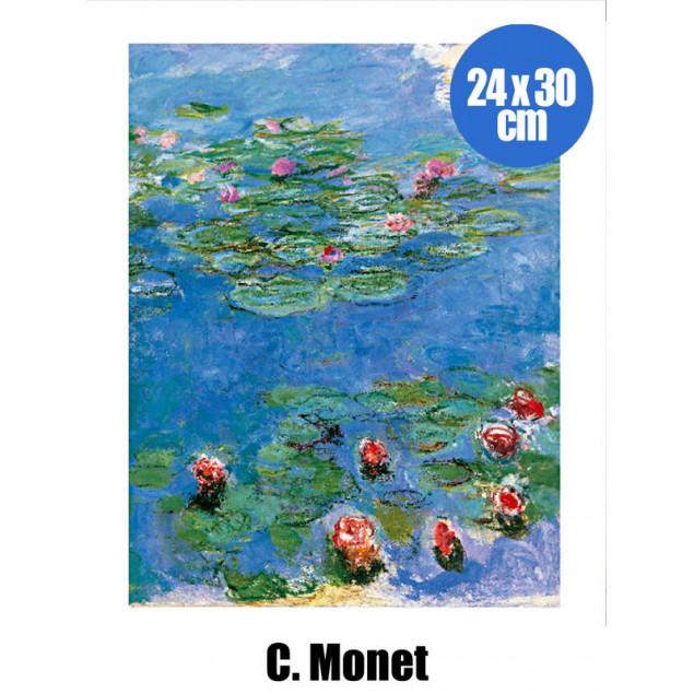 Water Lilies  poster, C. MONET 24x30 cm