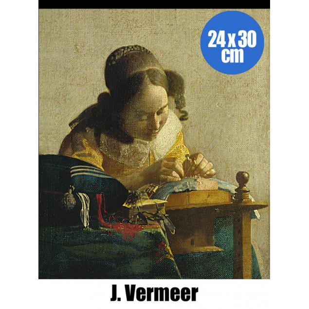 The Lacemaker poster, J. WERMEER 24x30 cm
