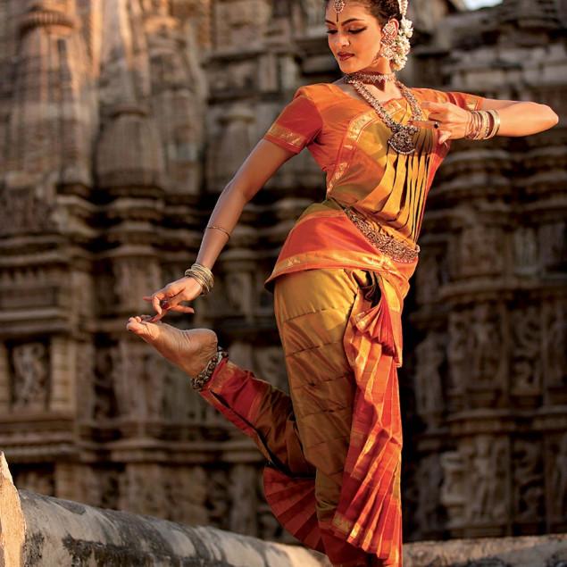 Bharatanatyam dancer, India, P. SEUX - 50 x 70 cm