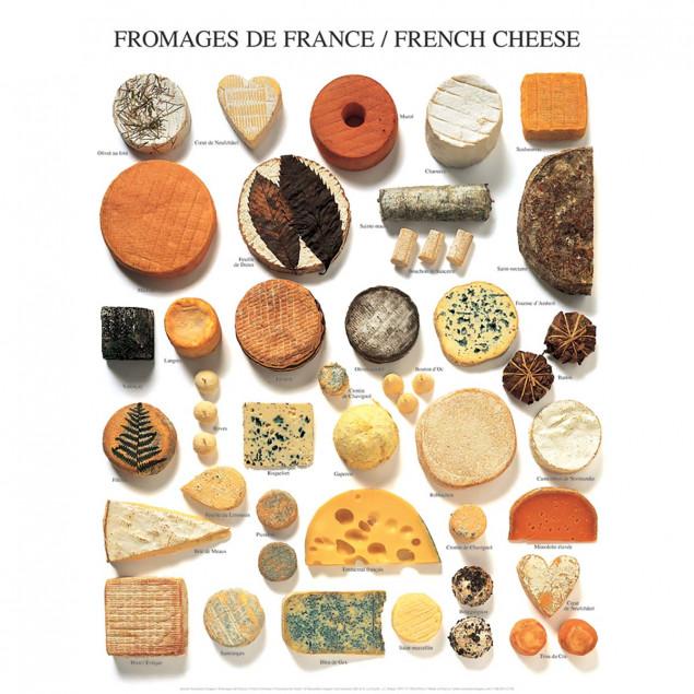 Affiche Fromages de France - 40x50cm