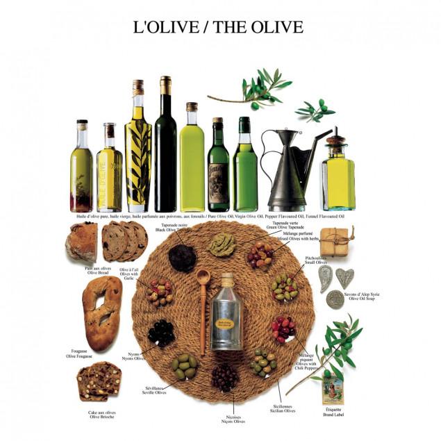 Olives poster - 40 x 50 cm