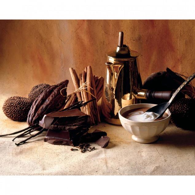 Affiche Chocolat, crème, cannelle - 40x50cm