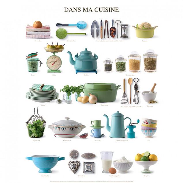 Affiche Dans ma cuisine - 40x50cm