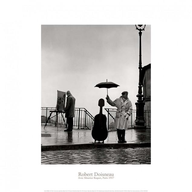 Un musicien sous la pluie, Maurice Baquet, Paris