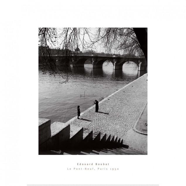 Affiche noir et blanc Le Pont-Neuf, Paris, E. Boub