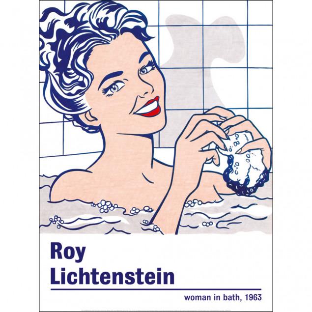 Affiche Femme dans la salle de bain, R. LICHTENSTE
