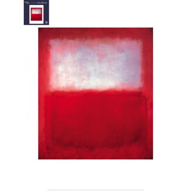White over Red poster, M. ROTHKO 60x80 cm