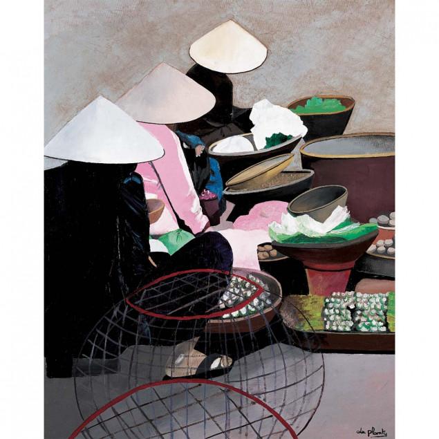 Vietnamese Market Poster, Anne Du Planty