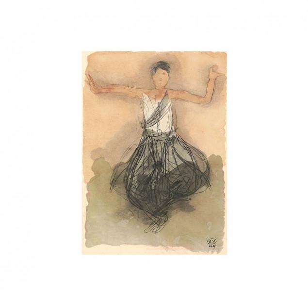 Cambodian Dancer Poster, Auguste Rodin