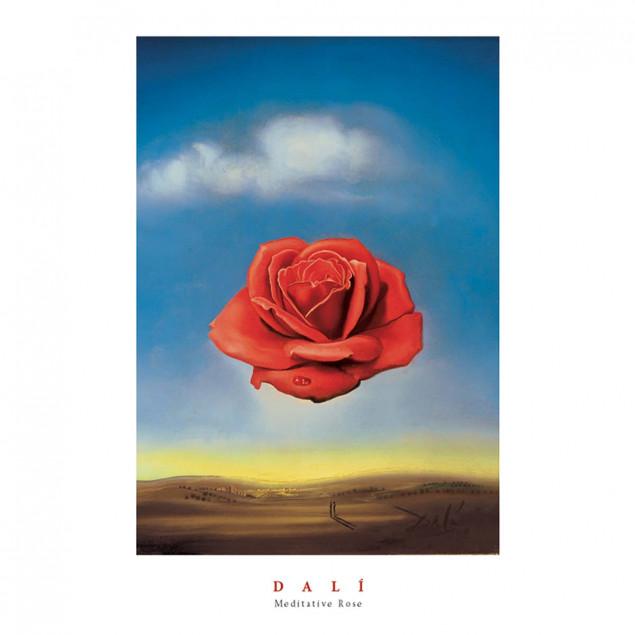 The Meditative Rose Poster, Salvador Dali