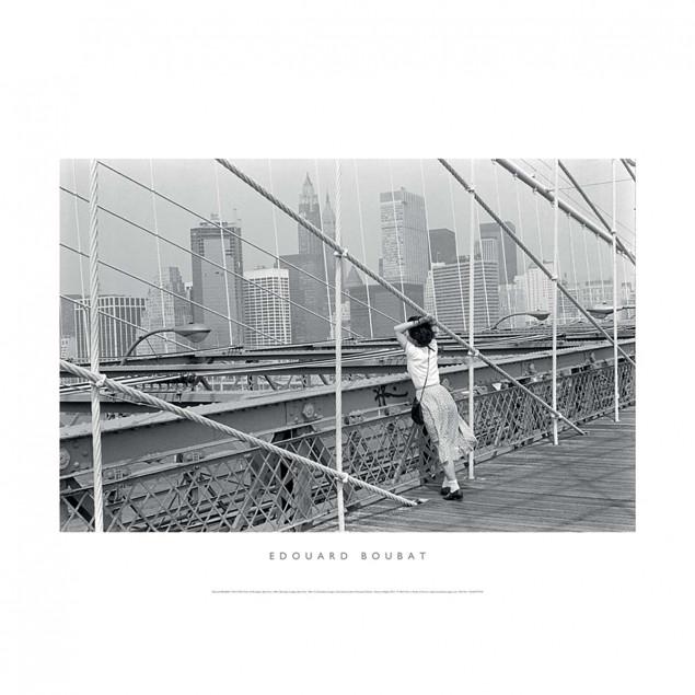 Black and White Poster, Brooklyn Bridge, New York,
