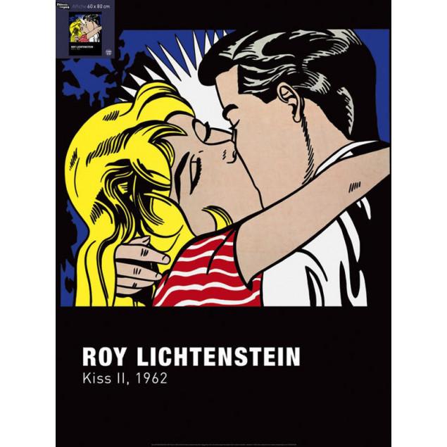 Kiss II poster, R. LICTENSTEIN 60x80 cm