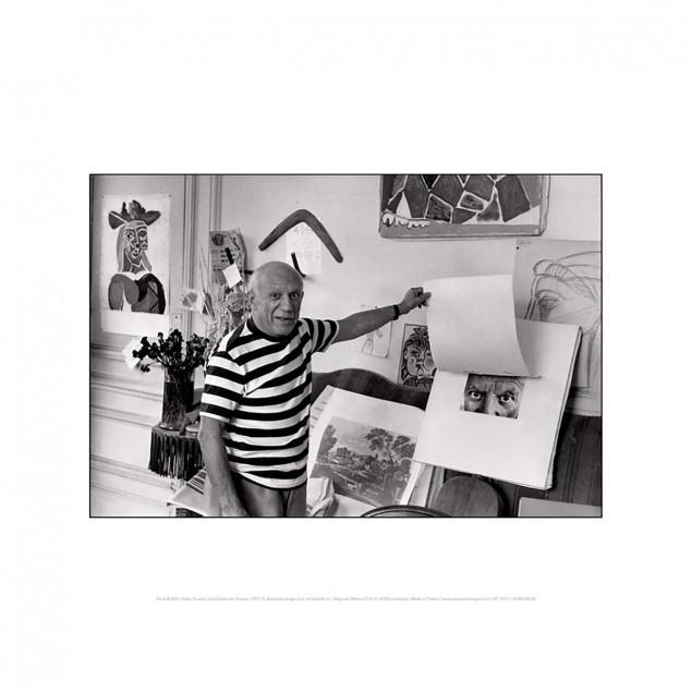 Affiche Pablo Picasso, Villa Californie - Burri