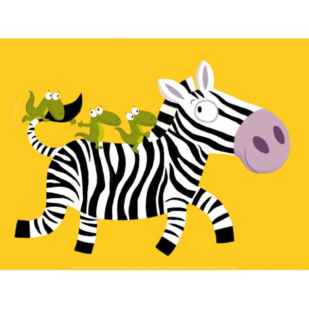 The Zebra poster, N. CHOUX 30x40 cm