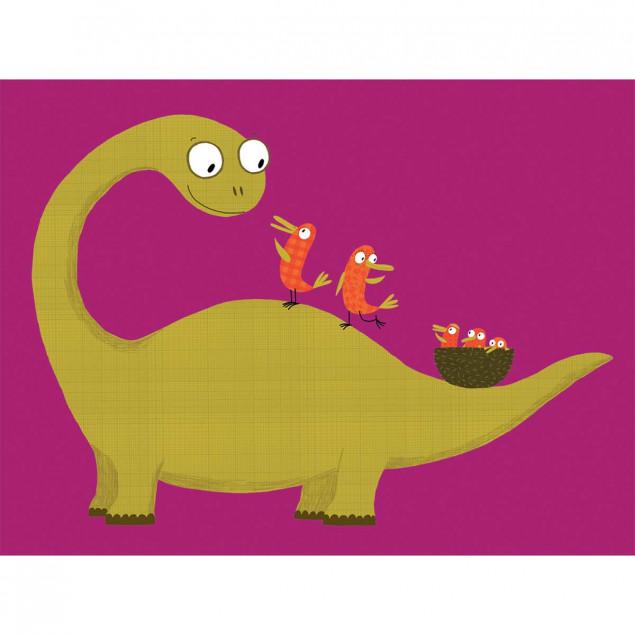 Affiche Joli Dino / Lovely Dino - N. CHOUX, 30x40c
