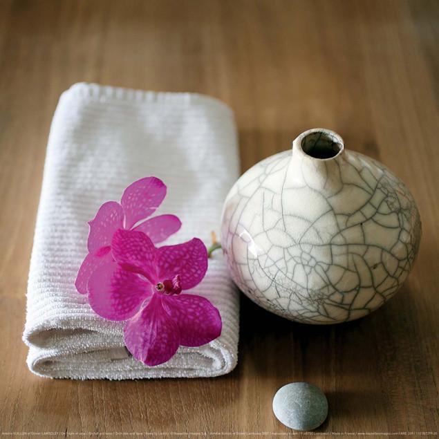Orchidée et vase