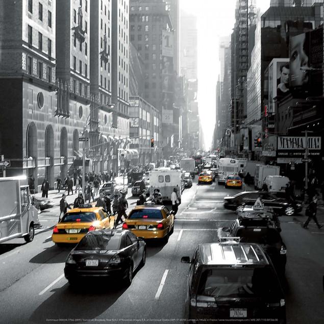 Sunset on Broadway, New York