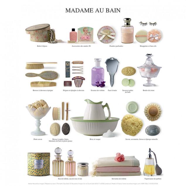 Affiche Madame au bain - 24x30cm
