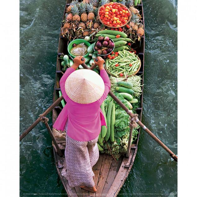 Marché flottant, Delta du Mékong, Vietnam
