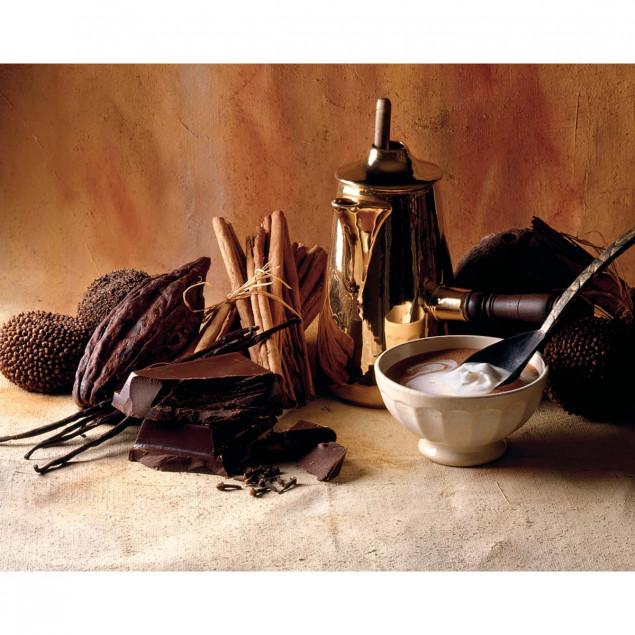 Chocolate, cream, cinnamon