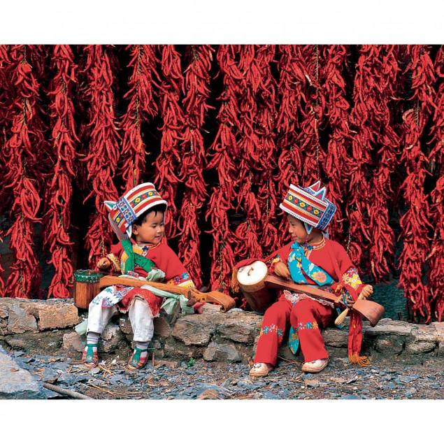 Enfants de l'ethnie Yi, Yunnan, Chine