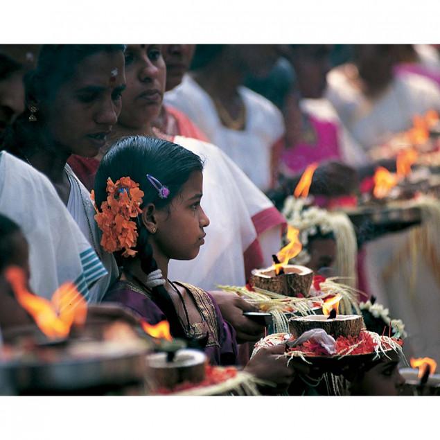 Offering to goddess Devi, Kerala, India
