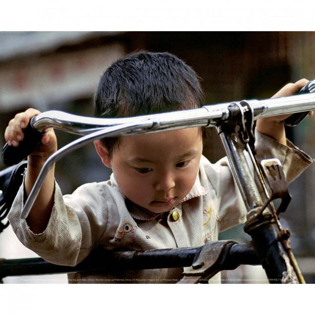 Little boy with bike, China