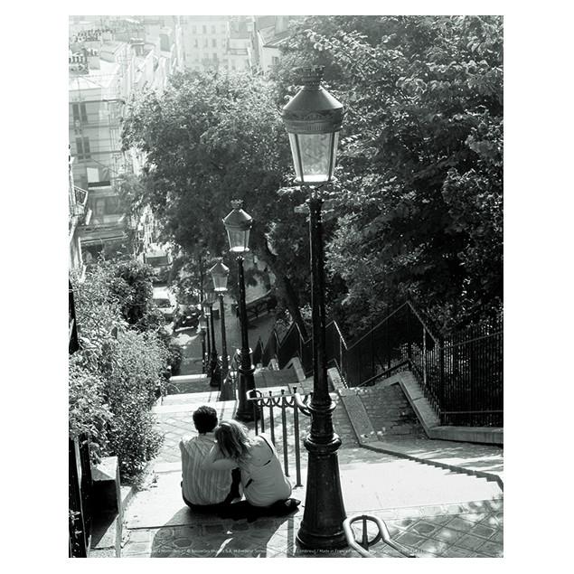 Affiche Montmartre, F. SOREAU 24x30 cm