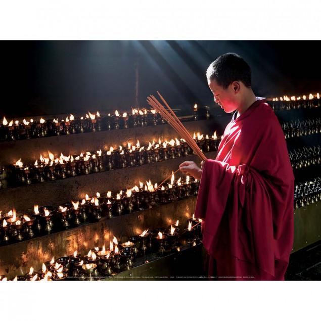 Buddhist monk, Jokhang Monastery, Tibet