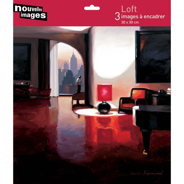 3 Loft Apartment posters, Denis Fremond