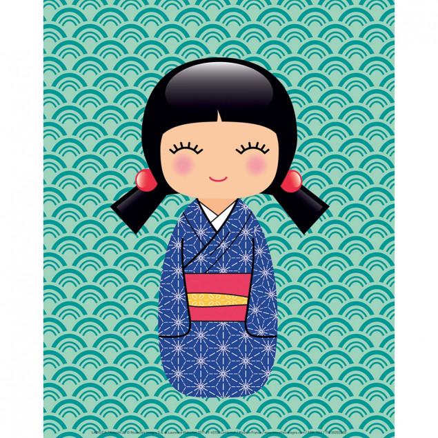 Kokeshi 2, Ladyleia poster - 24 x 30 cm