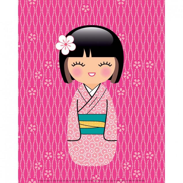 Affiche Kokeshi 3, LADYLEIA - 24X30cm