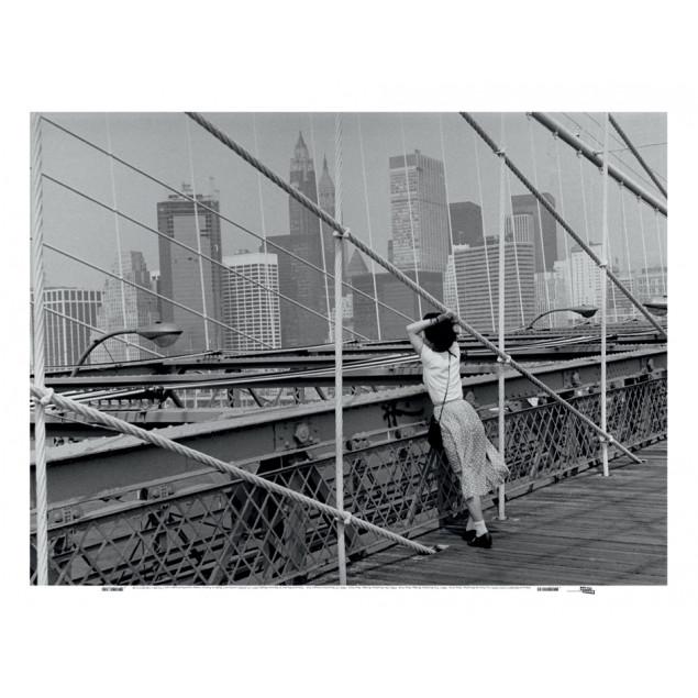 Printed Canvas, Brooklyn Bridge, New York, E. Boub