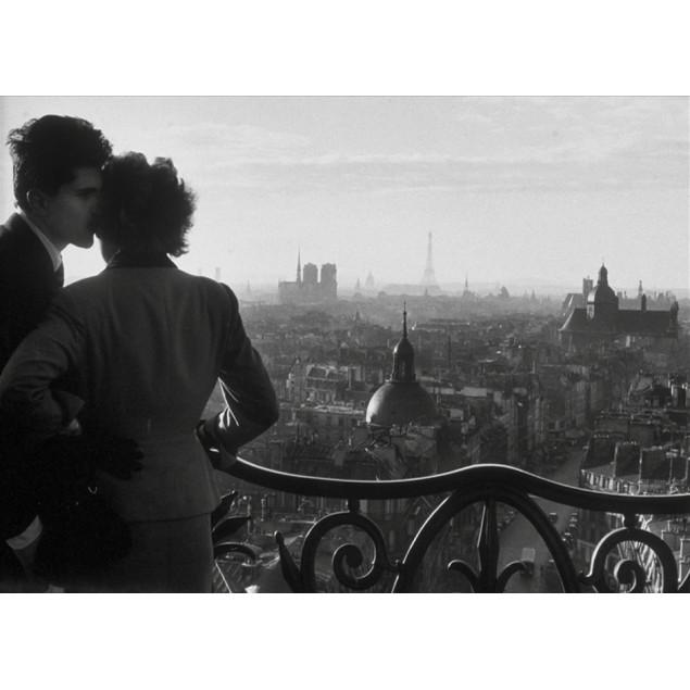 Toile imprimée Les amoureux de la Bastille - W. RO