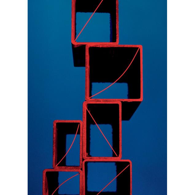 Toile imprimée 90x126 cm Pyramide de cubes de spag