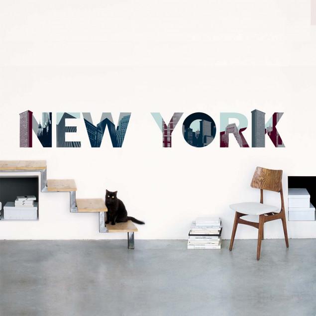"""""""NEW YORK"""" wall sticker, skyscraper letters"""