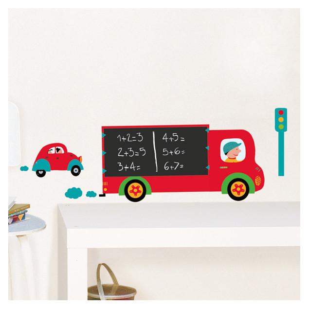 Sticker mural Camion Ardoise - 23X34 cm