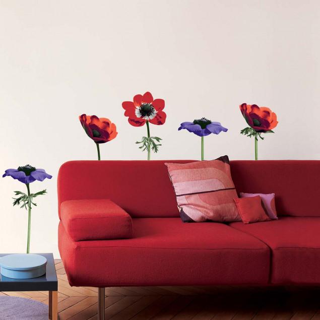 Sticker mural Fleurs Anémones