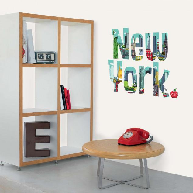 """""""NEW YORK"""" wall sticker, cartoon letters"""