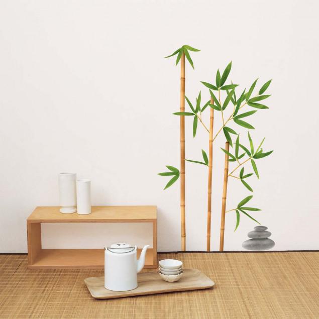 Fishpole bamboo wall sticker