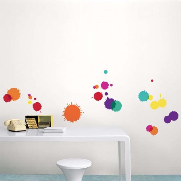 Sticker mural Taches multicolores