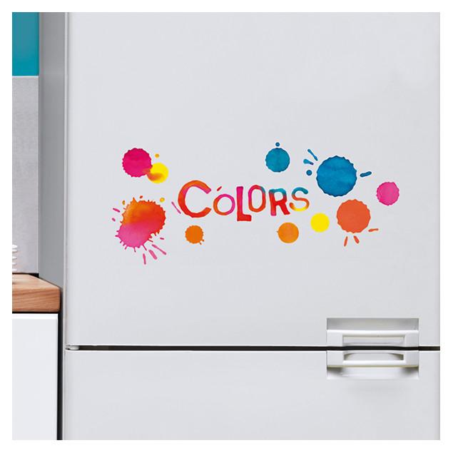 Multicoloured dots window sticker