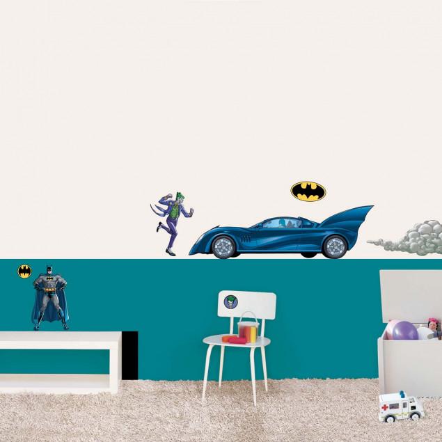 Batman & Batmobile wall sticker