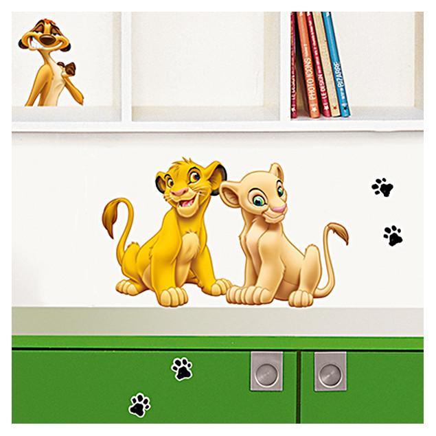 Simba and Nala wall sticker