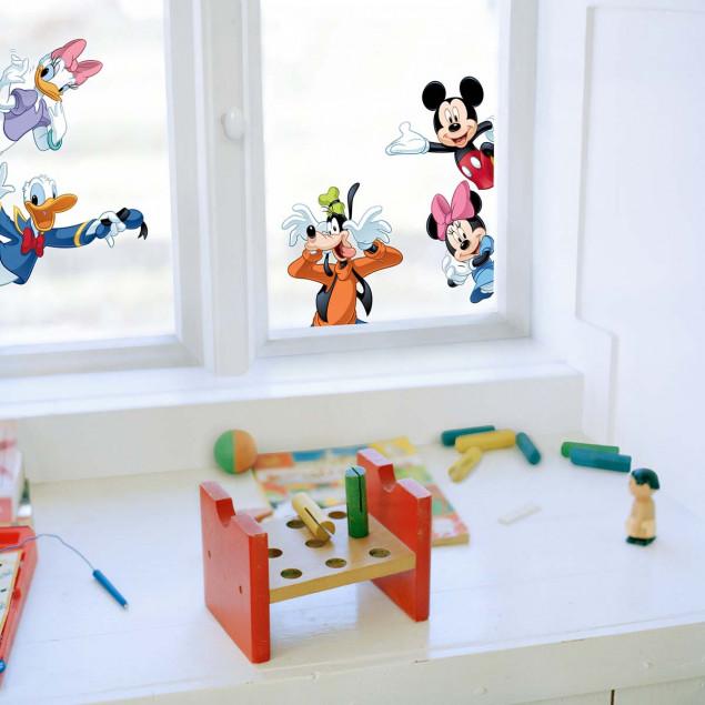 Mickeyoes friends window sticker