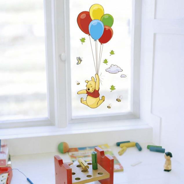 Winnie the Pooh balloons window sticker