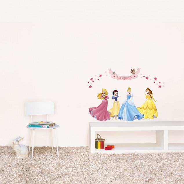 4 Disney princesses wall sticker
