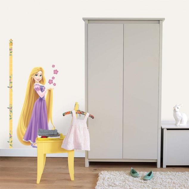 Princess height chart wall sticker